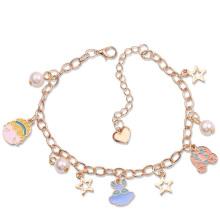 ASKSA 2021 New Fashion Crystal charms Bracelet cartoon Pearl couple bracelets Jewelry Gifts bracelet girls