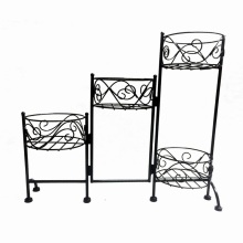 Hot Selling Decoration Multiple Metal Black Garden Flowerpot Rack