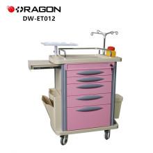 Chariot médical de chariot d'urgence de fonction d'équipement d'hôpital