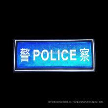 láminas de impresión reflexivas de la policía del logotipo del pvc