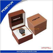 Pantalla de reloj de cuero de regalo personalizado de moda caja de reloj