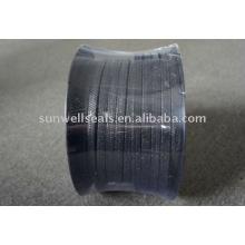 Embalagem de fibra de carbono reforçada com inconel, grafite