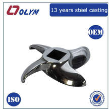 ISO certified factory OEM stainless steel lost wax castings cutting machine parts
