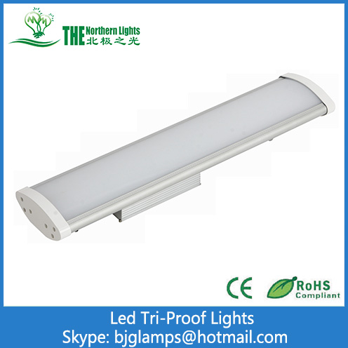 40W  LED Tri-proof lights with AL Housing+ PC Cover