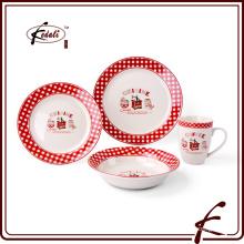 Cena de cerámica colorida del diseño de la manera fijada para el hogar