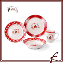 fashion design colorful ceramic dinner set for home