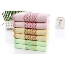 Colorful plain dyed washable knitted warp  towel