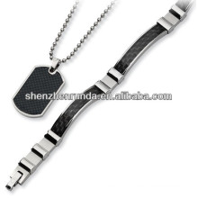 hottest items for 2013 stainless steel dog tag pendant with Carbon Fiber Manufacture
