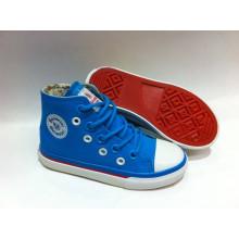 2016 Самые последние ботинки холстины конструкции детей вулканизированные ботинки (SNK-02013)