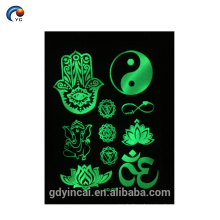 Hotselling removable miracle glow temporary tattoo sticker