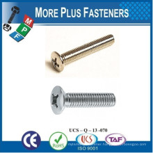 Made in Taiwan Machine Screw ISO 7047 Philips Oval Head Countersunk Stainless Steel Carbon Steel Zinc Plated