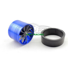 Universal Blue 63mm Turbo Fan Turbolader Supercharger für Einlasskits