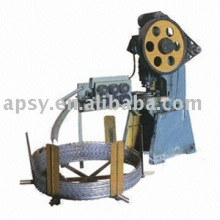 Single strand barbed wire machine