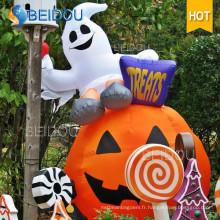 Décorations gonflables de Halloween Giant Inflatable Pumpkin