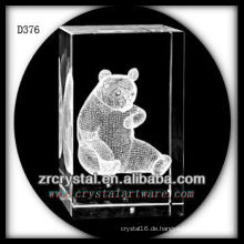 K9 3D Laser Unterwasser Panda innerhalb Crystal Rectangle