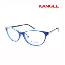 Le plus nouveau design Lady lunettes de lecture cadres acétate verres optiques et acétate mélanger avec du métal