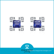 2014 Best Seller 925 Fashion Silver Stud Earring (E-0053)