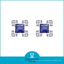 Серьга стержня способа серебра 925 популярного способа 925 (E-0053)