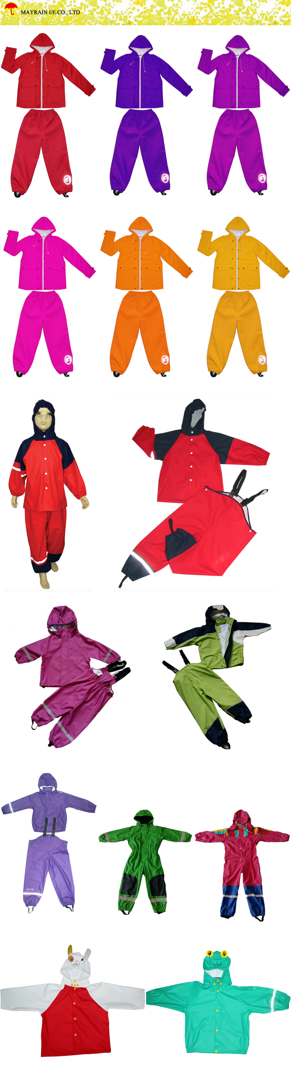 Kids PU Rainsuit