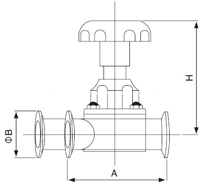 sanitary-u-type-three-way-diaphragm-valve-kaysen