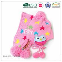 BSCI Kids Pink Hat Scarf Set