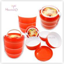 Контейнер еды PP, круглые Пластиковые коробки обед