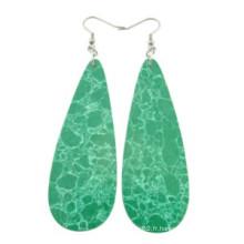 Boucles d'oreilles en perles turquoise Boucles d'oreilles en pierre