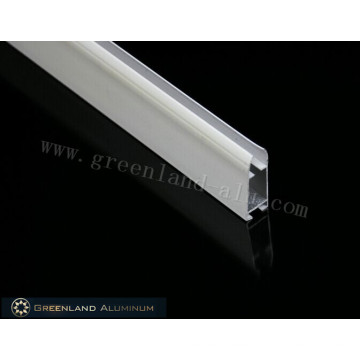 Riel inferior de aluminio para persiana enrollable con recubrimiento de polvo