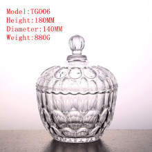 Teapot crystal glass candy jar home craft bottle