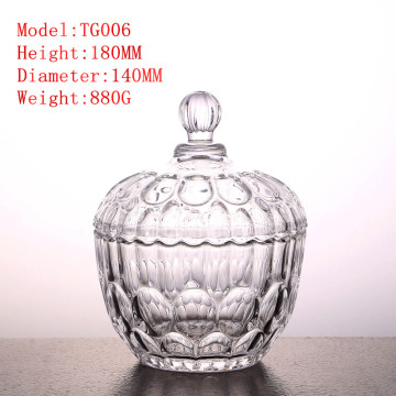 Household candy jar receptacle glass bottle snack glassware