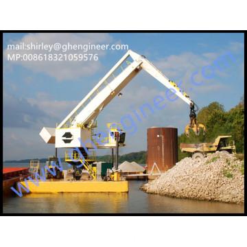 500t / h Hidráulica Elétrica Flutuante Grua de Manuseio a Granel 35T 40T