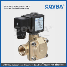 Diaphragm pilot operated water-hammer low power solenoid valve