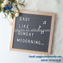 2018 Best Selling10x10 Inch Gray Felt Letter Board With Changeable Letters