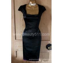 Nouveau design Vintage 40s 50s style noir satiné Hollywood Galaxy crayon wiggle pinup robe GP009