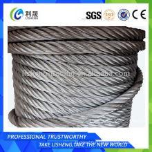 Câble en acier non galvanisé 19 * 7