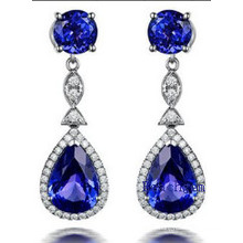 Fashion Jewellery Tanzanite Cubic Zirconia Earrrings