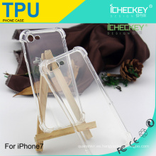 Para Apple iPhone 7 Crystal Clear Tecnología de absorción de choques Bumper Funda de TPU suave para iPhone 7