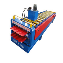 Hydraulic Trapezoid Panel Double Deck Roll Forming Machine