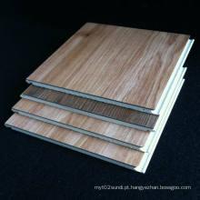 Piso laminado de PVC WPC piso laminado Piso de madeira laminado de grão impermeável Boa qualidade preços competitivos