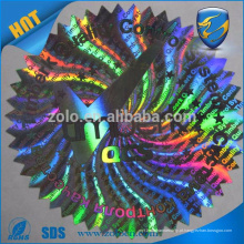 Marvelous solution etiqueta de etiqueta hologram etiqueta
