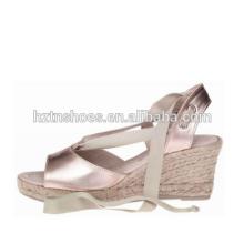 Chaussures en jute en caoutchouc en espadrille en argent 2016