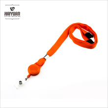 Tube Polyester Lanyard with Retractable Badge Reel
