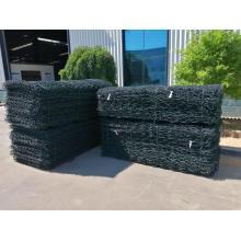 Caja de malla de alambre de gavión recubierta de PVC de 2M * 1M * 1M