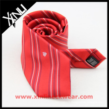 Cravates en soie brodées faites sur commande de luxe de label privé des hommes