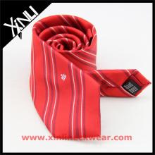 Laços de seda bordados costume da marca própria dos homens luxo