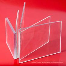 Painel de parede de construção de policarbonato sólido transparente