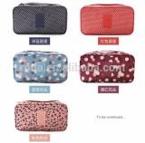 210D Fabric Printed Storage Travel Bra Underwear Storage Bag