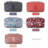 210D Fabric Printed Storage Travel Bra Underwear Storage Bag