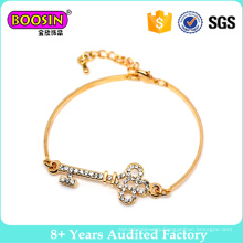Alloy Gold Wire Adjustable Key Fashion Bracelet