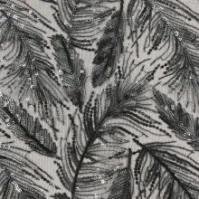2020 Autumn/Winter Fashion Feather Pattern Embroidery Farbic